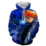 Bleach Ichigo Shinigami Captains Great Sword Hoodie