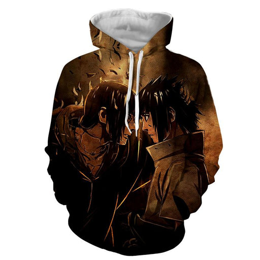 Naruto Japan Anime Itachi And Sasuke Fight Awesome Hoodie
