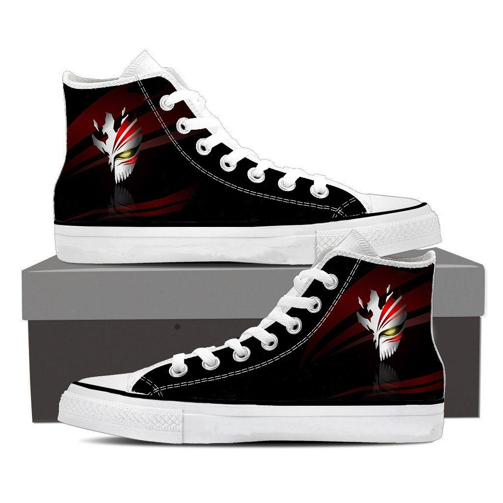Bleach Hollow Mask Symbol Manga Inspiration Style Converse Shoes