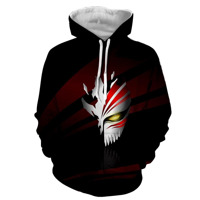 Bleach Hollow Mask Symbol Manga Inspiration Style Hoodie