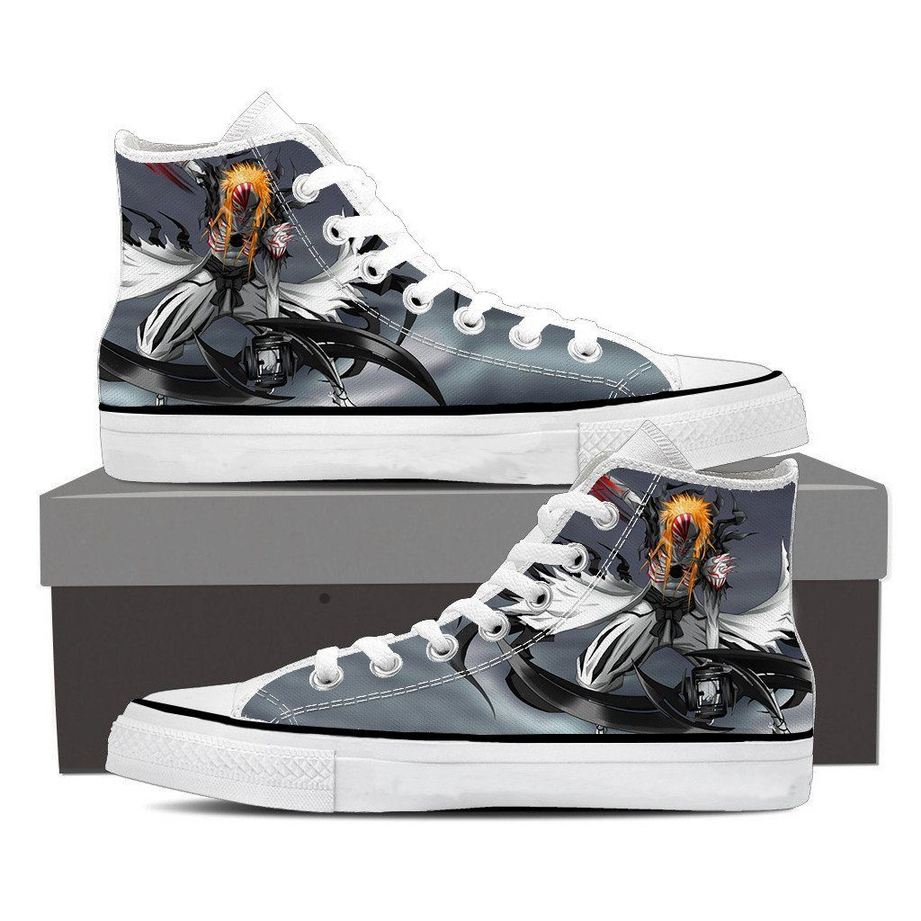 Bleach Ichigo Hollow Full Form Fan Art Design Converse Shoes