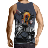 Bleach Ichigo Hollow Full Form Fan Art Design Summer Tank Top