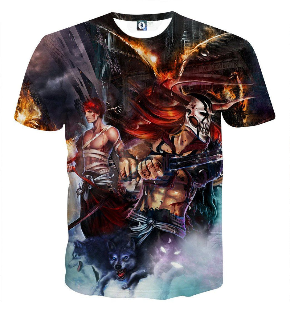Bleach Ichigo Hollow Full Form Realistic Concept Dope T-shirt