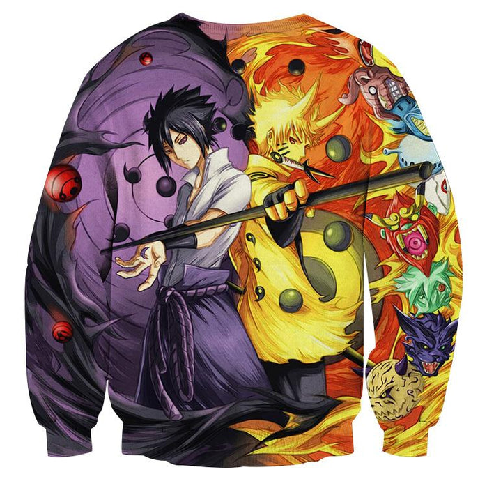 Naruto Sasuke Power Jinchuuriki Sharingan Pattern Sweatshirt
