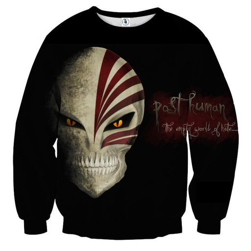 Bleach Ichigo Full Face Hollow Mask Skull Symbol Sweatshirt - Konoha Stuff