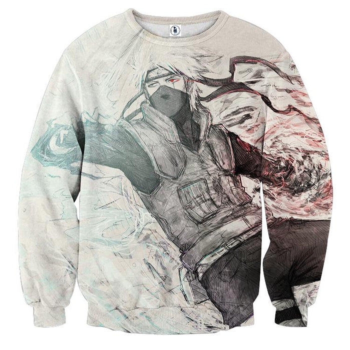 Naruto Japanese Anime Kakashi Hatake Fan Art Cool Sweatshirt