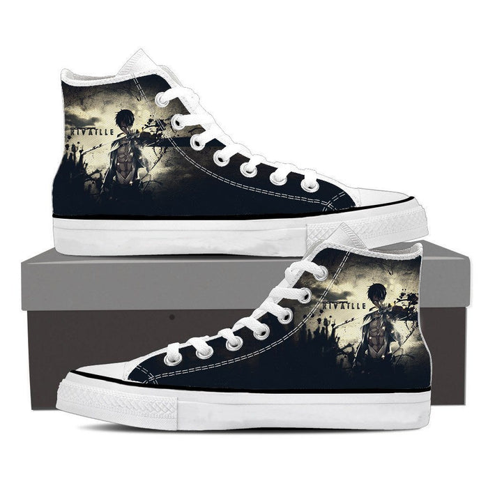 Attack On Titan Rivaille Levi Six Pack Abs Dope Style Shoes - Konoha Stuff
