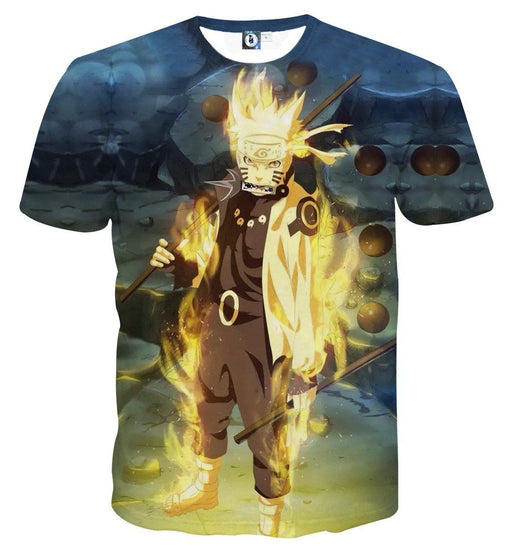 Naruto Six Paths Sage Mode Japanese Anime Cool T-Shirt