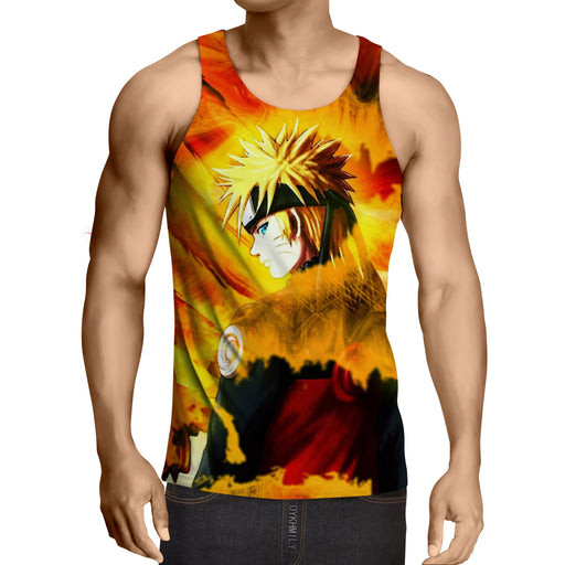 Naruto Uzumaki Kyuubi Fox Pattern Dope Art Summer Tank Top