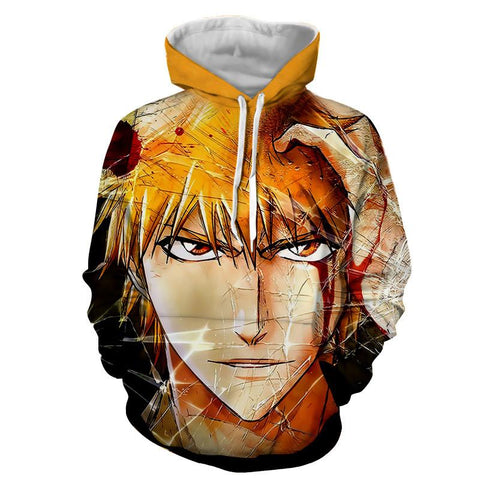 Bleach Anime Ichigo Kurosaki Amazing Cool Full Print Design Hoodie