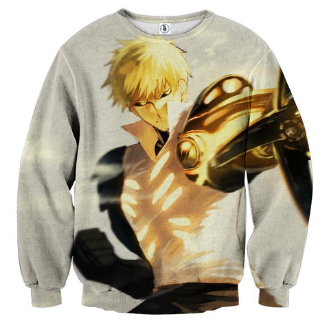 One-Punch Man Angry Genos The Demon Cyborg Cool Sweatshirt