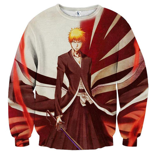 Bleach Ichigo Shinigami Hollow Mask Pattern Dope Sweatshirt