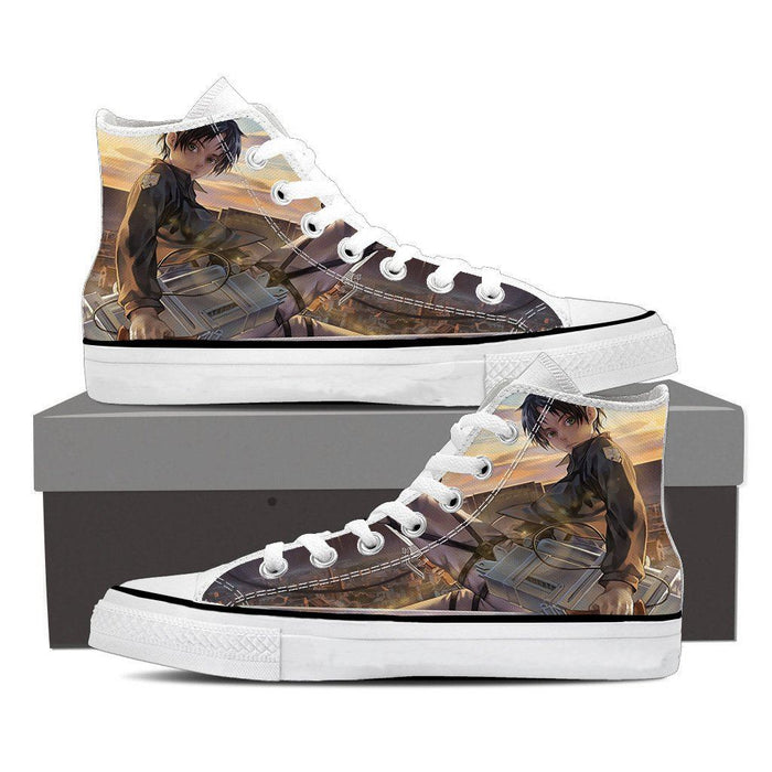 Attack On Titan Eren Yeager Cute Appearance Stylish Shoes - Konoha Stuff