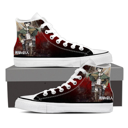 Attack On Titan Captain Levi Dope Style Full Print Shoes - Konoha Stuff