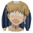 Big Windup Anime Shy and Cute Mihashi Ren 3D Print Sweater - Konoha Stuff