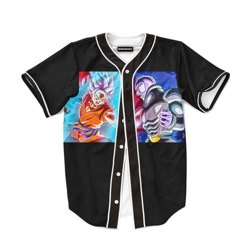 Goku SSJSS Whis Fight Assassin Hit Anime Baseball Jersey