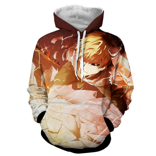 One-Punch Man Powerful Genos Vibrant Design Full Print Hoodie - Konoha Stuff