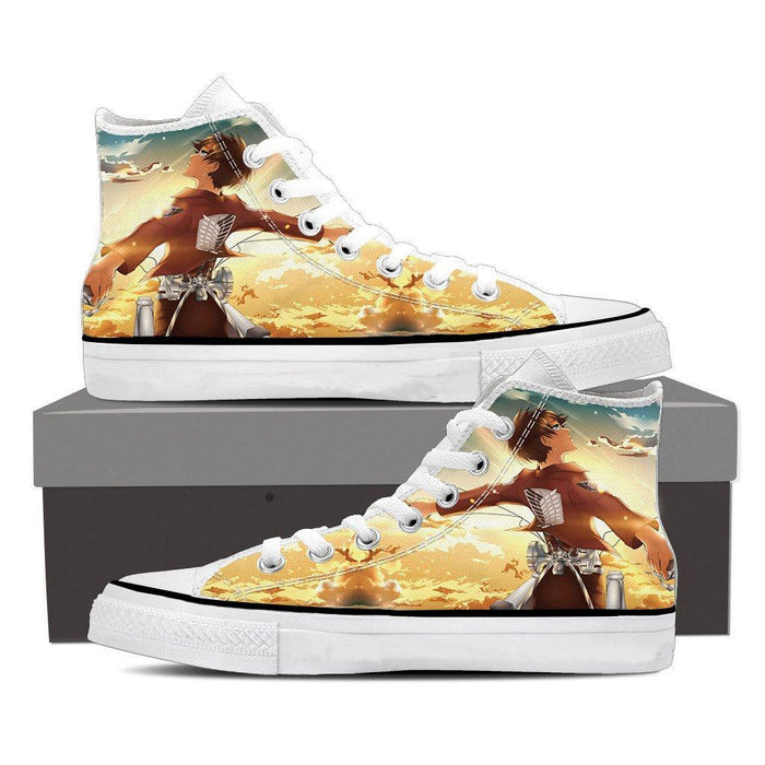 Attack On Titan Eren Sky High Amazing Design Full Print Shoes - Konoha Stuff