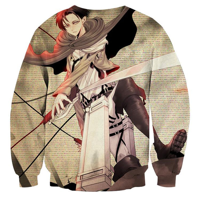 Attack On Titan Handsome Levi Cool Fan Art 3D Print Sweatshirt - Konoha Stuff