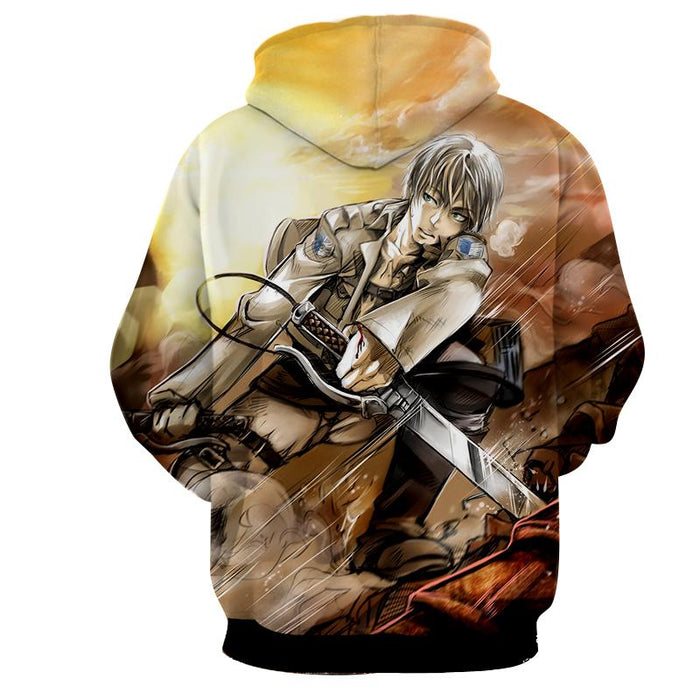 Attack On Titan Exhausted Eren Dope Fan Art Full Print Hoodie