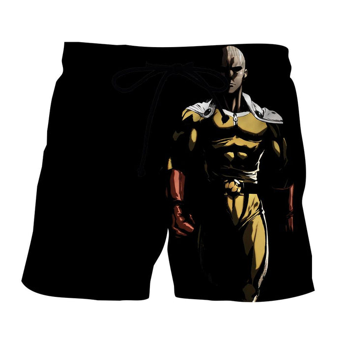 One-Punch Man Dangerous Saitama In The Dark Black Short - Konoha Stuff