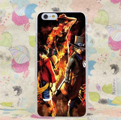 One Piece Portgas D. Ace Sabo Luffy Fantastic Team iPhone 4 5 6 7 Plus Case
