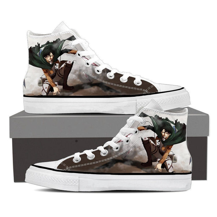 Attack On Titan Beaten Levi In Battle Dope Style Print Shoes - Konoha Stuff