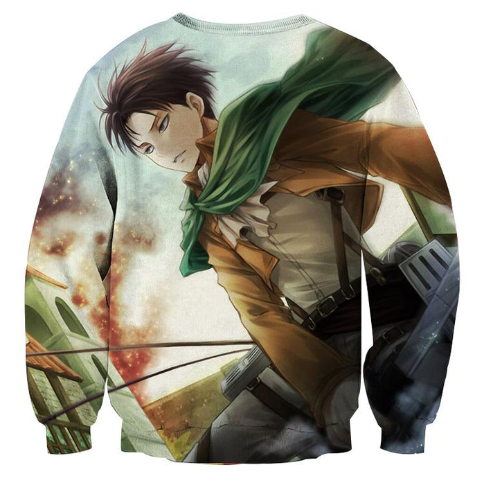 Attack On Titan Hansome Eren Yeager Vibrant Design Sweatshirt - Konoha Stuff