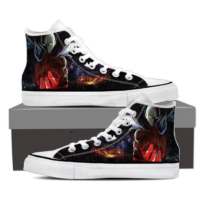 One-Punch Man Powerful Saitama In The Rain Full Print Shoes - Konoha Stuff