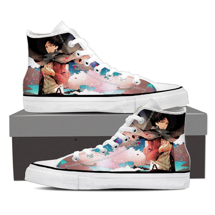 Attack On Titan Lonely Levi Captain Cool Fan Art Shoes - Konoha Stuff