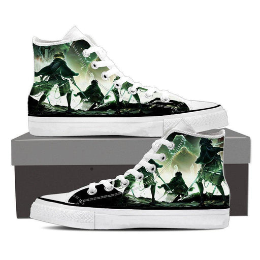 Attack On Titan The Survey Corps Facing Armored Titan Shoes - Konoha Stuff