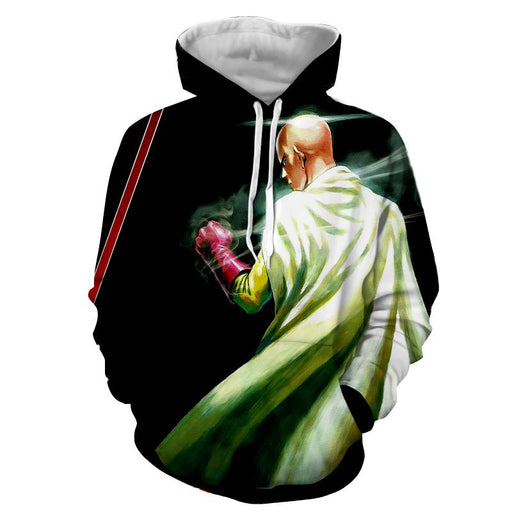 One-Punch Man Saitama Strong Hero Amazing Full Print Hoodie - Konoha Stuff
