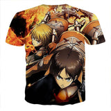 Attack On Titan Eren Armin Fighting Together Cool T-shirt