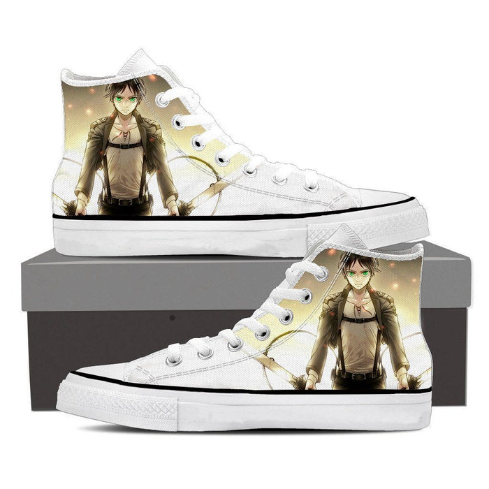 Attack On Titan Serious Eren Yeager Dope Style 3D Print Shoes - Konoha Stuff