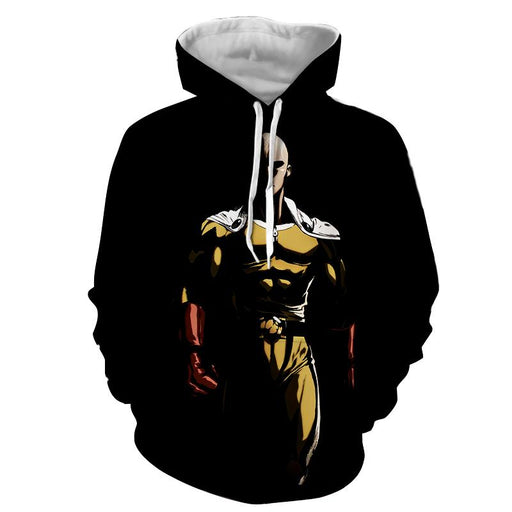 One Punch Man Dangerous Saitama In The Dark Black Hoodie - Konoha Stuff