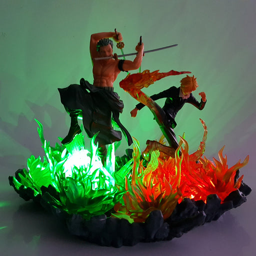 Roronoa Zoro Pirate Hunter Vinsmoke Sanji Black Leg DIY 3D LED Light Lamp