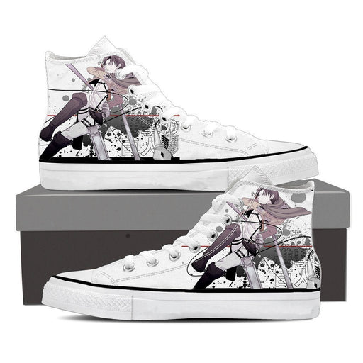 Attack On Titan Squad Captain Levi Swag Full Print Shoes - Konoha Stuff