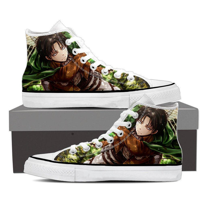 Attack On Titan Serious Levi Wielding Swords 3D Print Shoes - Konoha Stuff