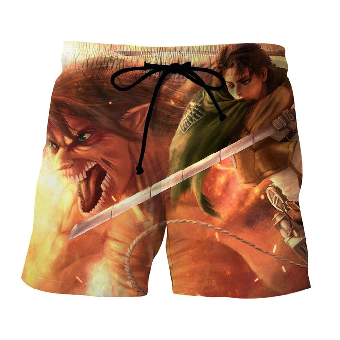 Attack On Titan Levi Dual Blades Fighting Fan Art Short - Konoha Stuff