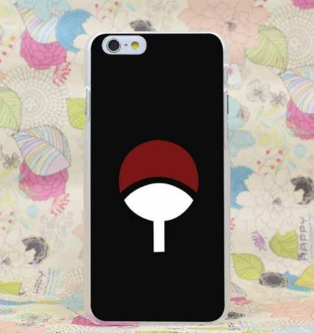 Naruto Uchiha Clan Symbol Pride Power Simple Case for iPhone 4 5 6 7 Plus