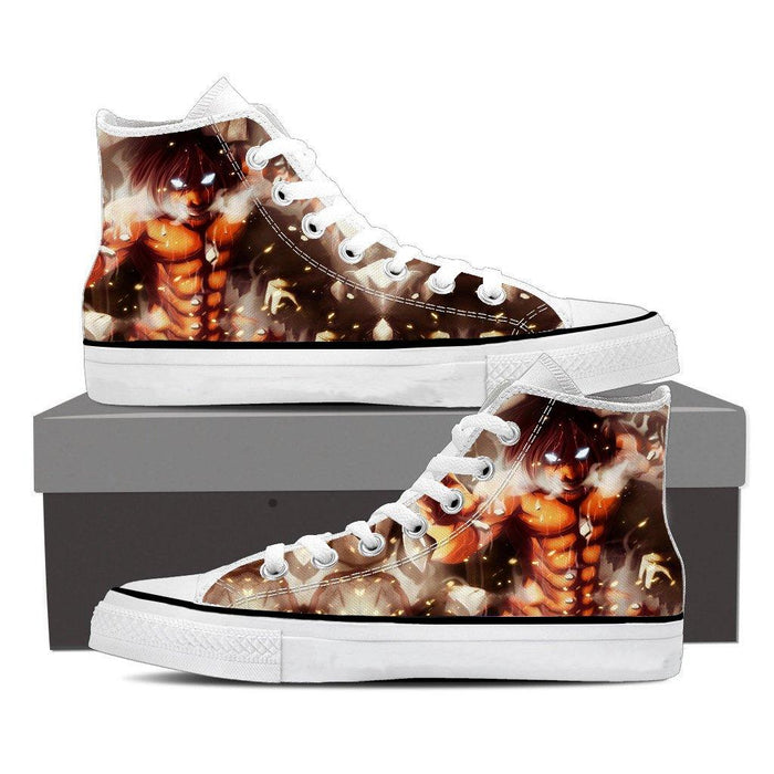Attack On Titan Eren Founding Titan Led Light Eyes Cool Shoes - Konoha Stuff