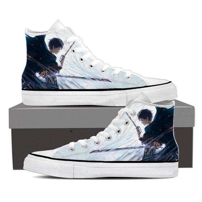 Attack On Titan Lonely Eren Sadness Cool Design Print Shoes - Konoha Stuff