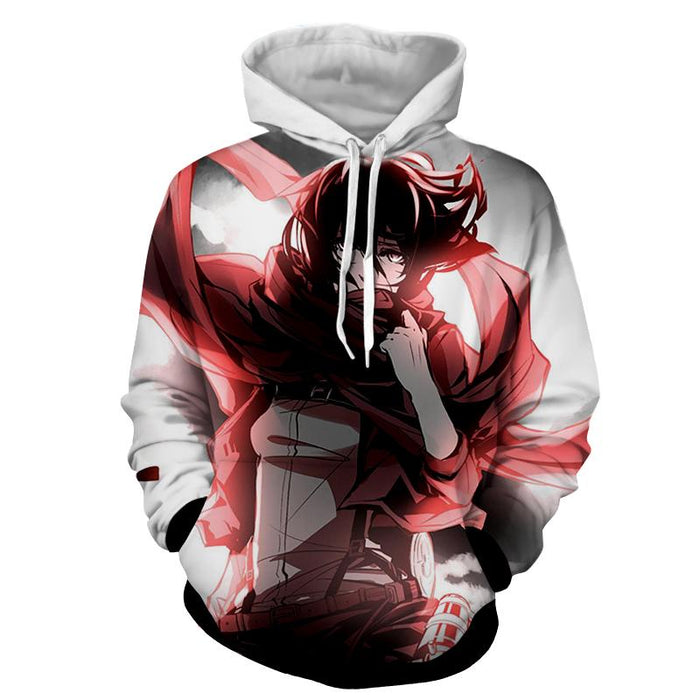 Attack On Titan Mikasa Ackerman Strong Veteran Cool Hoodie - Konoha Stuff
