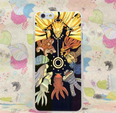 Naruto Sage Mode All Tailed Beasts Dope Style Case for iPhone 4 5 6 7 Plus