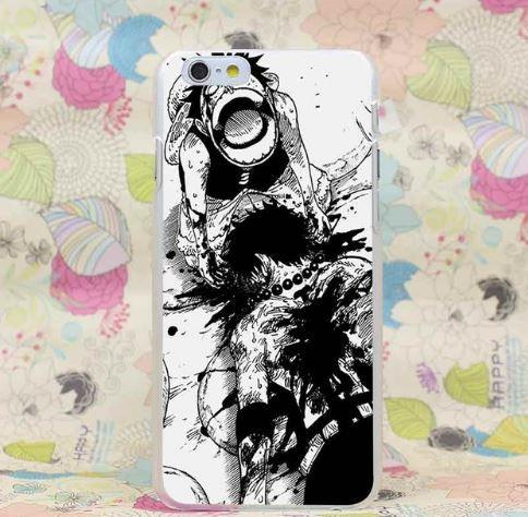 One Piece Portgas D. Ace Tearfully Luffy Scene iPhone 4 5 6 7 Plus Case