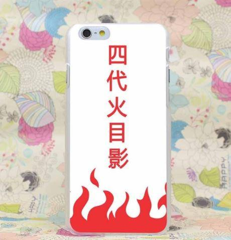 Naruto The Fourth Hokage Minato Cape Symbol Case for iPhone 4 5 6 7 Plus