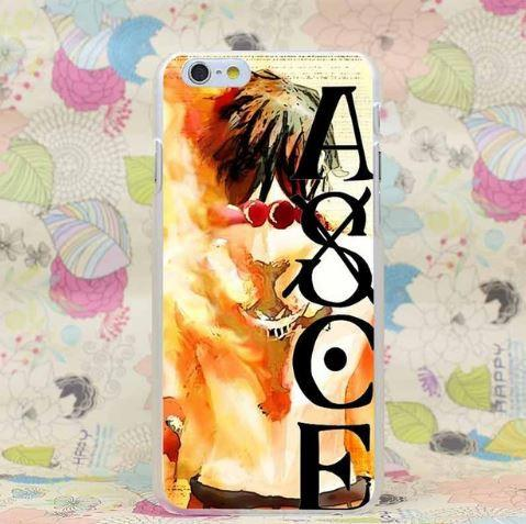 One Piece Portgas D. Ace Whitebeard Tattoo iPhone 4 5 6 7 Plus Case