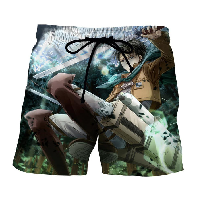 Attack On Titan Levi Ackerman The Captain Full Print Short - Konoha Stuff
