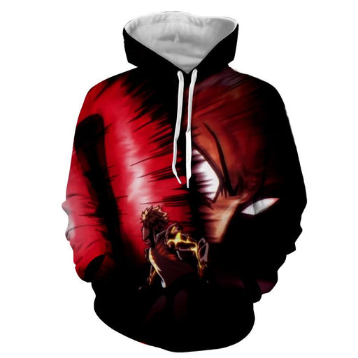 One-Punch Man Saitama Fighting Genos Amazing 3D Print Hoodie - Konoha Stuff