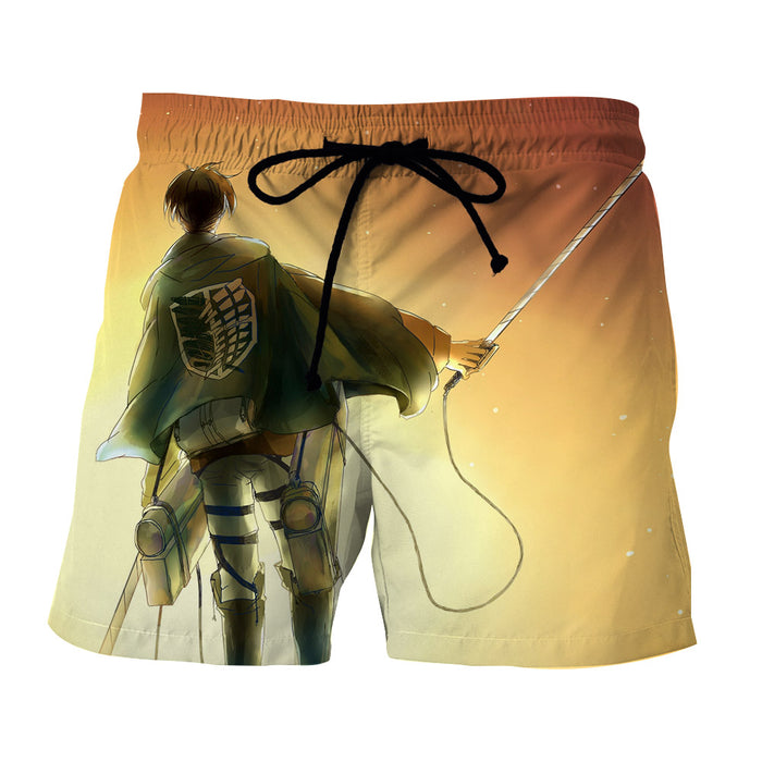 AOT Levi Ackerman Scout Regiment Uniform Sunset Boardshorts
